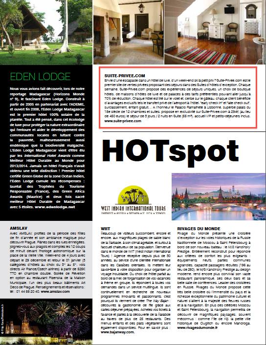Article Horizons Monde décembre 2014