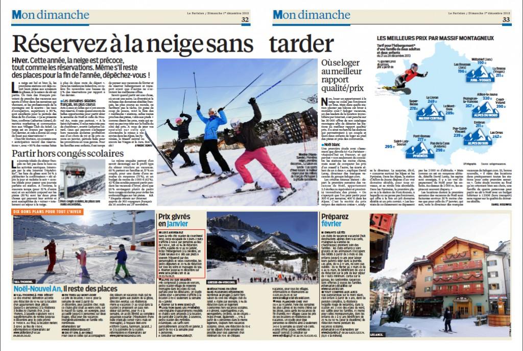 Article La Parisien dimanche 01 décembre 2013