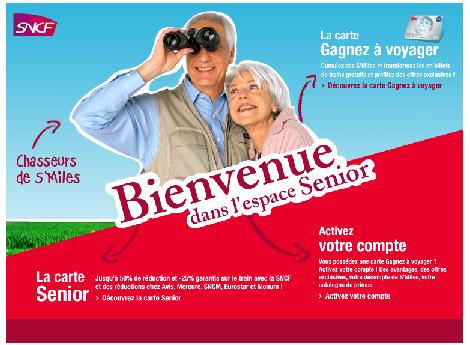 SNCF : La nouvelle carte Senior pour les plus de ans KelBillet
