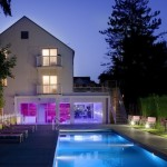 Les pleiades hotel barbizon fontainebleau pool by night by suite privee
