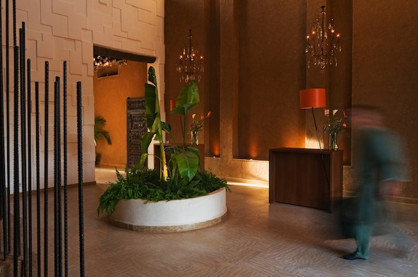 Les 5 djellabas hotel et lodge palmeraie marrakech lobby by koming up