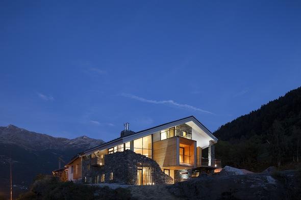 Chalet Mineral Lodge - Villaroger Extérieur Nuit1 by komingup