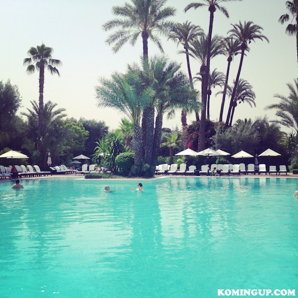 La Mamounia Palace Marrakech piscine by komingup