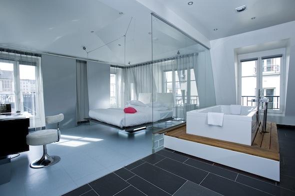 L h tel le plus givr de paris le kube paris inaugure sa for Chambre marilou design vip