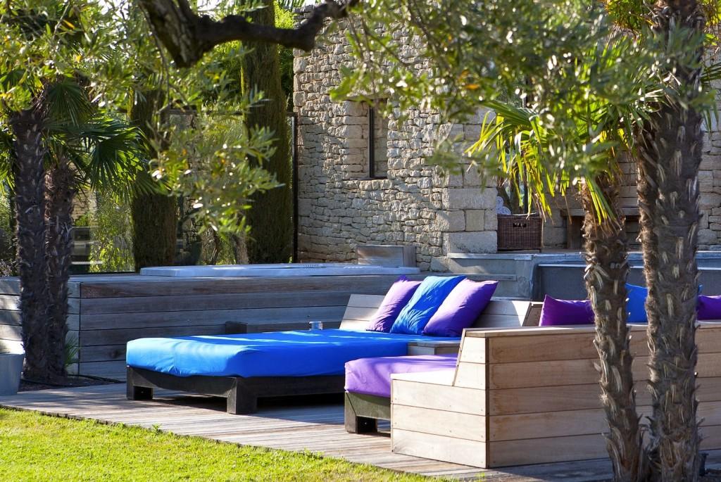 Domaine des Andeols Maisons d'hôtes de luxe Luberon Andeols terrasse piscine