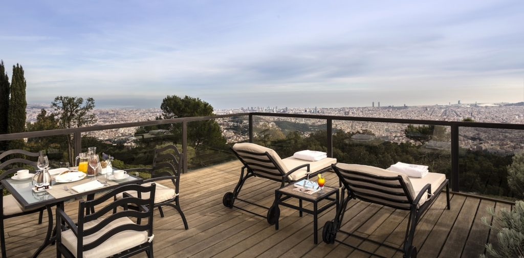 Gran Hotel La Florida Barcelone terrasse privee suite
