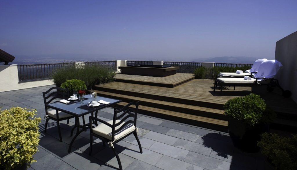 Gran Hotel La Florida Terrasse privee suite design
