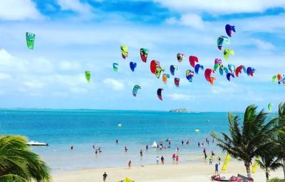 Ile rodrigues ocean indien kite