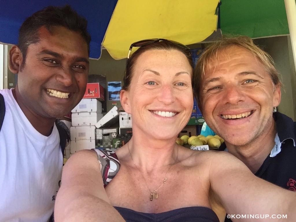Ile rodrigues ocean indien valerie et les festivaliers du kitesurfing festival